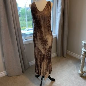 Brown Dress with Sequins